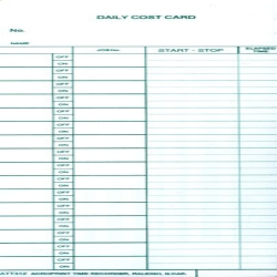 ACRO 09-6104-080 BX/1000 DAILY COST CARDS