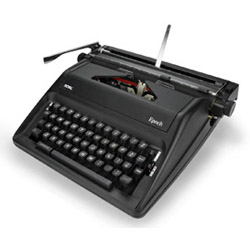 ROYAL EPOCH MANUAL PORTABLE TYPEWRITER
