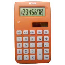 ROYAL X2 8 DIGIT DUAL POWER HANDHELD CALC