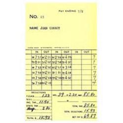 AMANO EX-3500N BX/250 WEEKLY CARDS