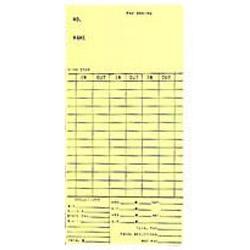 AMANO EX-3500N BX/250 BIWKLY CARDS