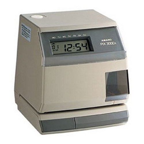 AMANO PIX3000X ELECTRONIC TIME RECORDER