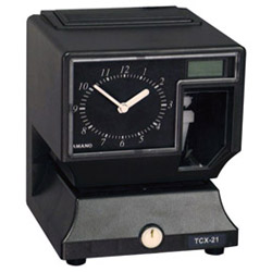AMANO TCX-21 ELECTRIC TIME CLOCK