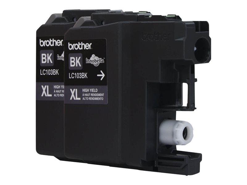 BROTHER MFC-J4410DW 2PK HI YLD BLACK INKS, 600EA yield