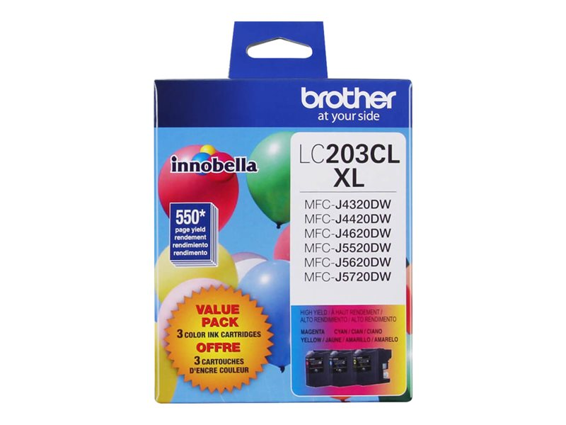 BROTHER MFC-J4320DW HI THREE COLOR MULTIPACK, 550EA yield