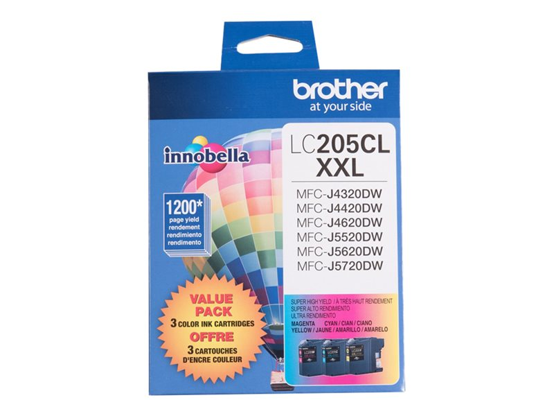 BROTHER MFC-J4320DW XH THREE COLOR MULTIPACK, 1200EA yield
