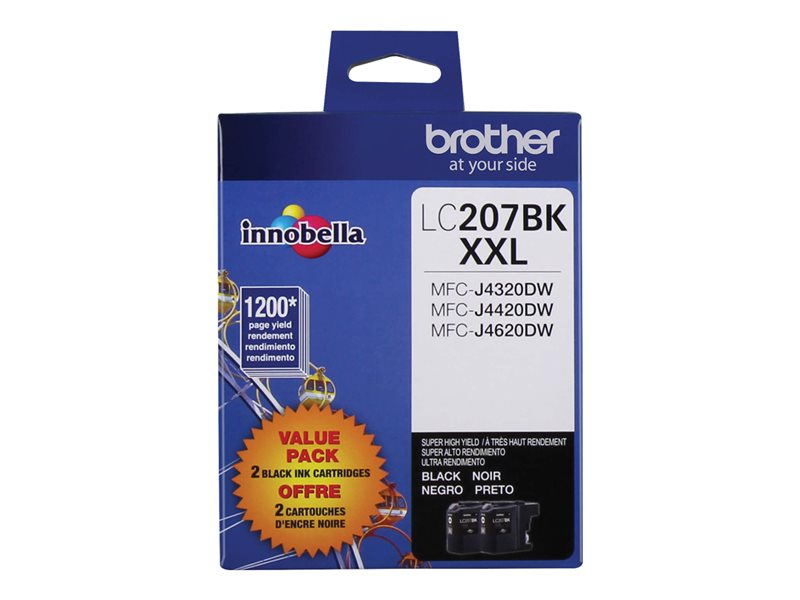 BROTHER MFC-J4320DW 2PK XH YLD BLACK INKS, 1200EA yield