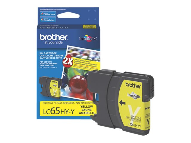 BROTHER MFC-6490CW HI YLD YELLOW INK, 750 yield