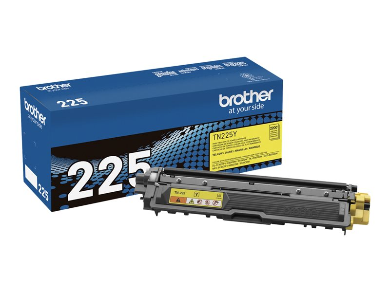 BROTHER HL-3140CW HI YLD YELLOW TONER, 2.2k yield
