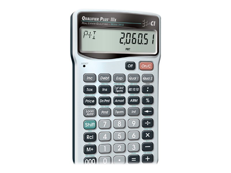CALC IND 3415 QUALIFIER PLUS IIIX CALCULATOR