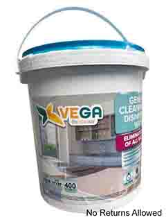 VEGA CLEANING WIPES (400CT)