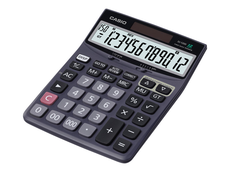 CASIO DJ120D 12 DIGIT DESKTOP CALCULATOR