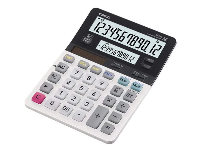 CASIO DV220 12 DIGIT DUAL DISPLAY DESK CALC