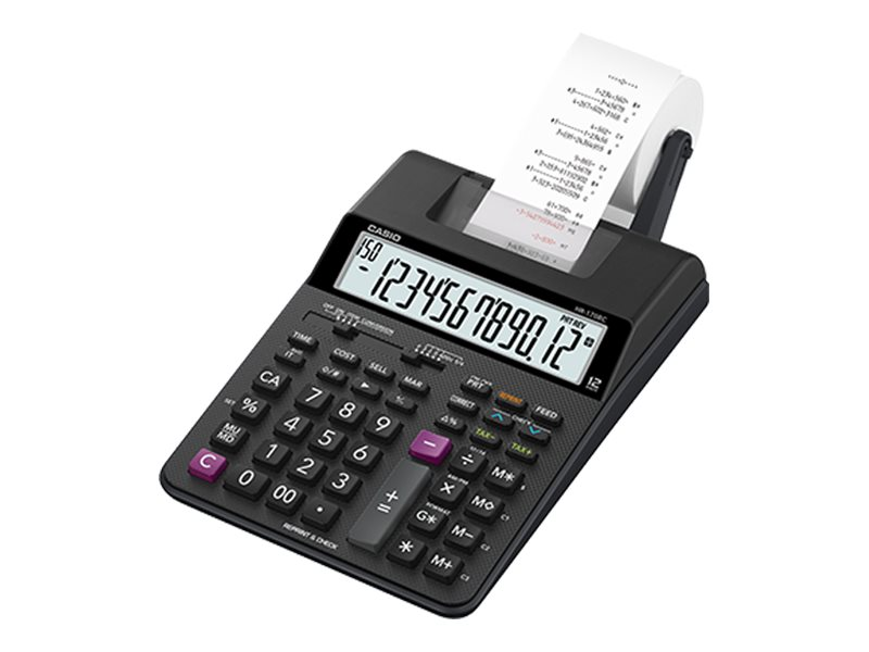CASIO HR170RC 12 DIGIT MINI PRINTING CALCULATOR