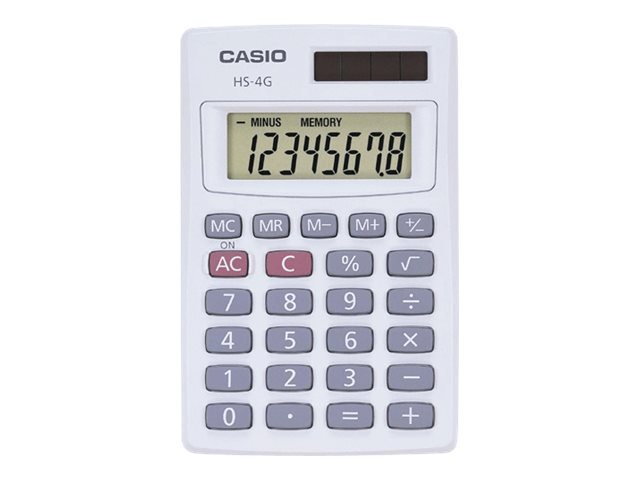 CASIO HS4G 8 DIGIT MINI SOLAR BASIC CALCULATOR