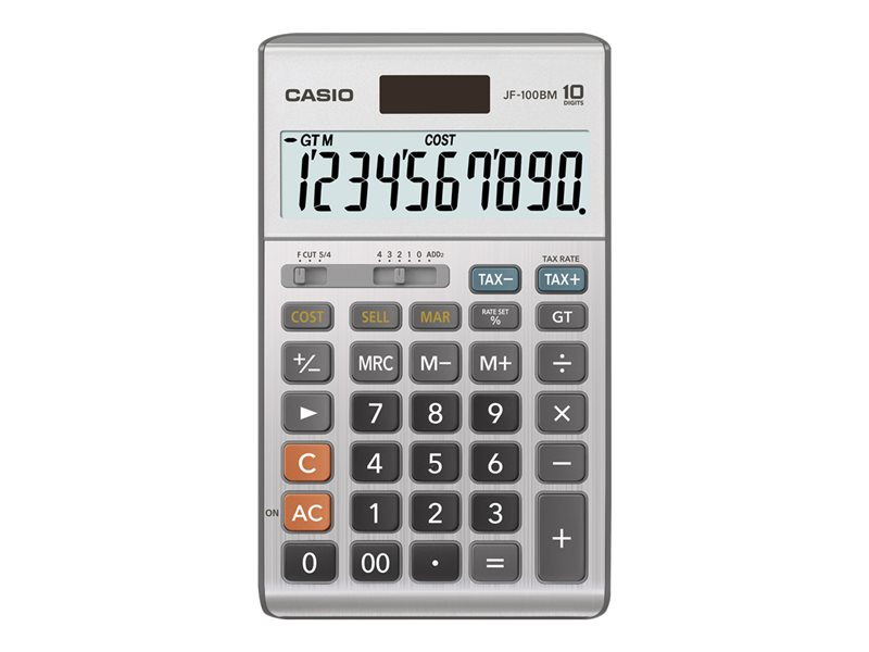 CASIO JF100BM 10 DIGIT SEMI-DESKTOP CALCULATOR