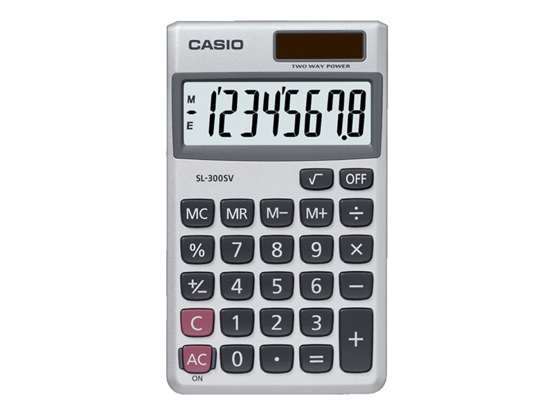 CASIO SL300SV  8 DIGIT BIG DISPLAY HANDHELD