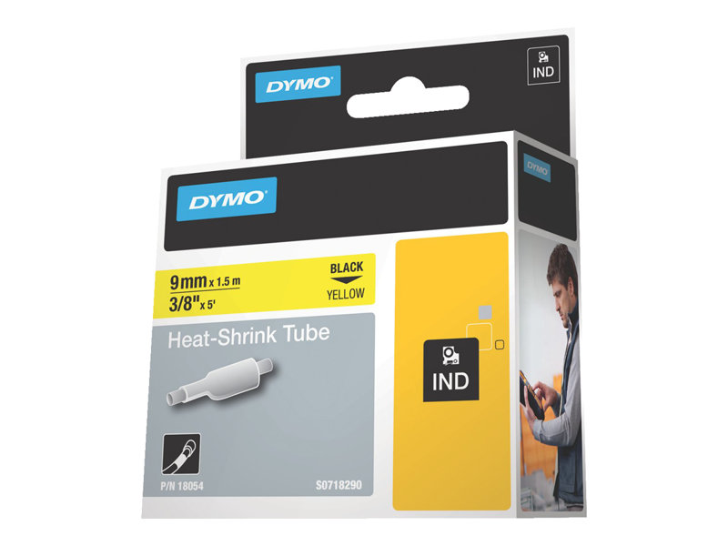 DYMO IND HEAT SHRINK BLACK/YELLOW 3/8