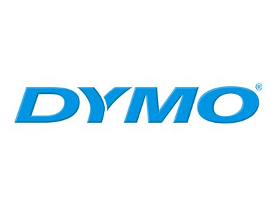 DYMO IND PERMANENT POLY BLACK/CLEAR 3/8