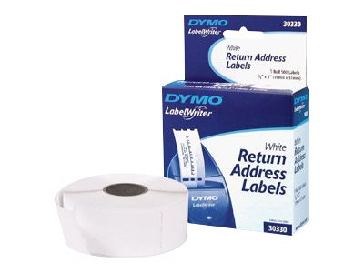 DYMO LW LABELS WHITE 500 RTN ADDRESS 0.75
