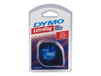 DYMO LT PLASTIC LABELS BLACK/BLUE 1/2