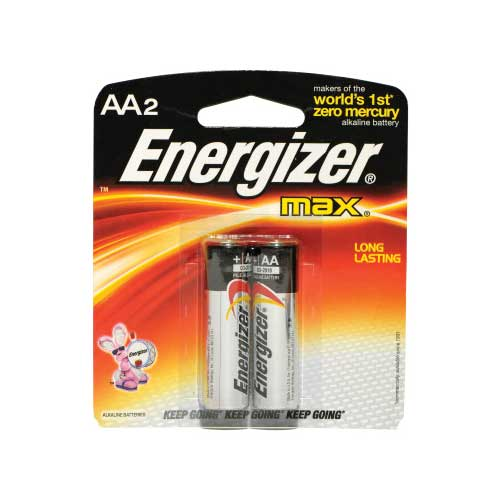ENERGIZER E91-BP2 MAX LQ-2PK AA BATTERIES