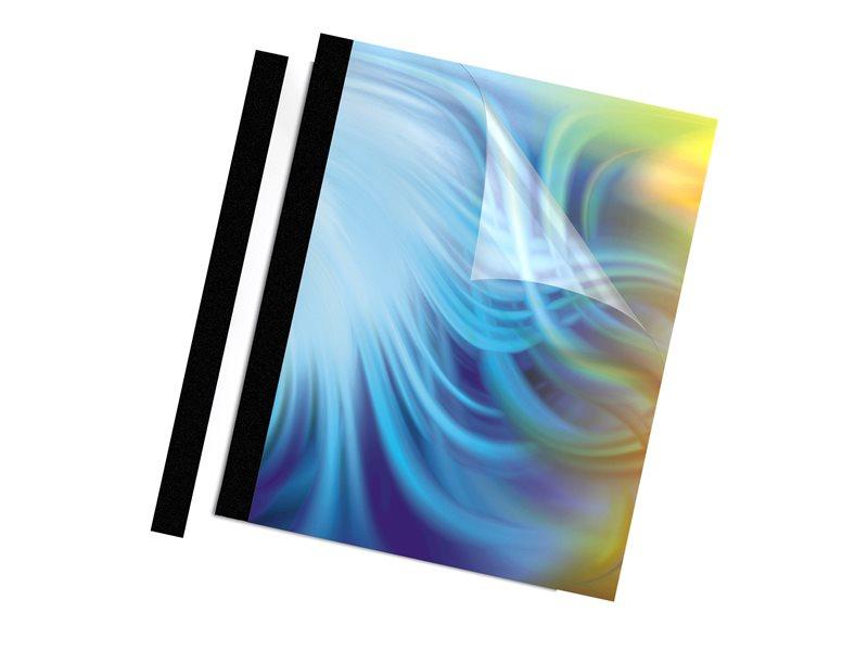 FELLOWES CLEAR/BLK THRML 10PK 1/16