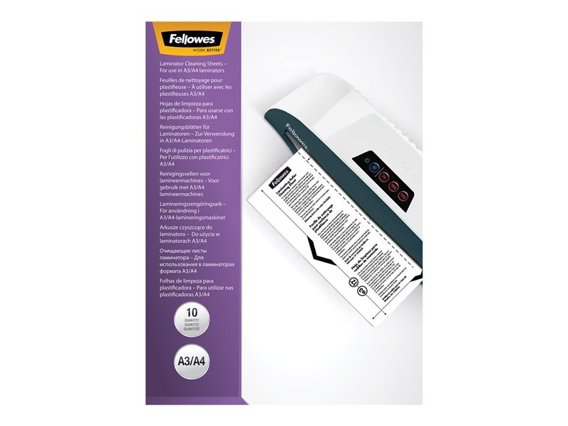 FELLOWES 5320603 10PK CLEANING SHEETS