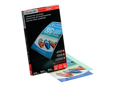 SWINGLINE LAMINATE POUCH 100PK 5MIL LEGAL SIZE