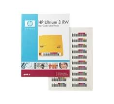 HP LTO ULTRIUM-3 LABELS 100 BARCODE/10 CLEANING, 110 yield