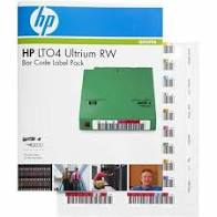 HP LTO ULTRIUM-4 LABELS 100 BARCODE/10 CLEANING, 110 yield