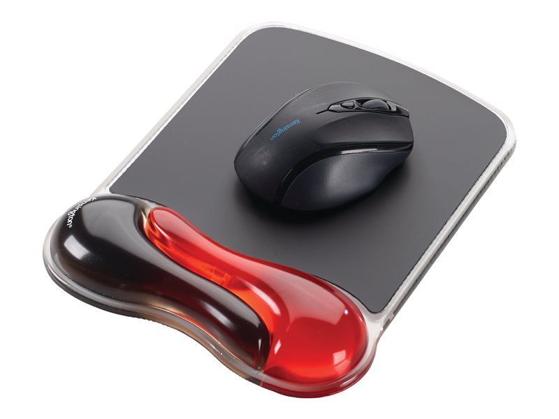 KENSINGTON K62402AM RED DUO GEL WAVE MOUSE PAD
