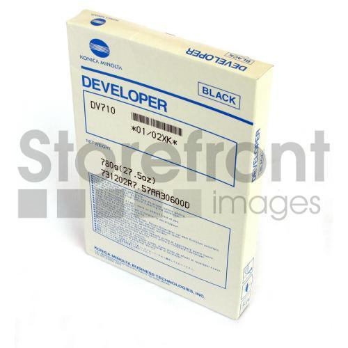 KONICA BIZ 600 02XK DV710 BLACK DEVELOPER, 250k yield