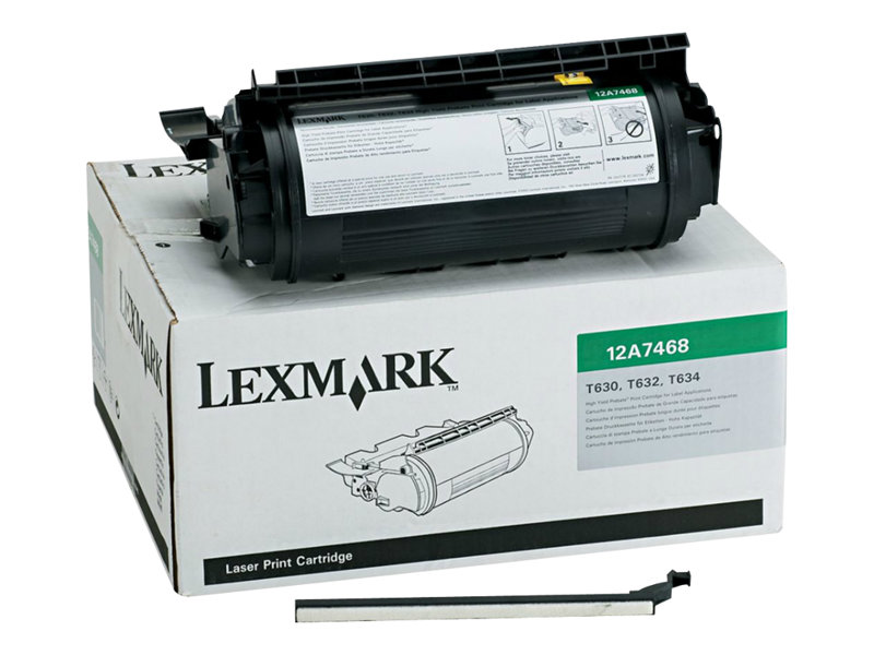 LEXMARK T632DN HI YLD BLACK TONER/LABEL, 21k yield