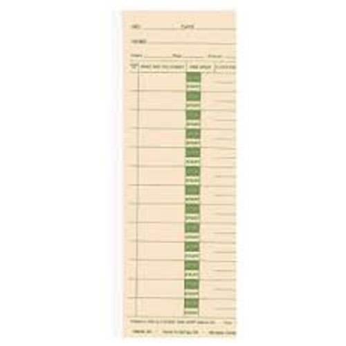 LATHEM 2100/4000 BX/1000 JOB CARDS