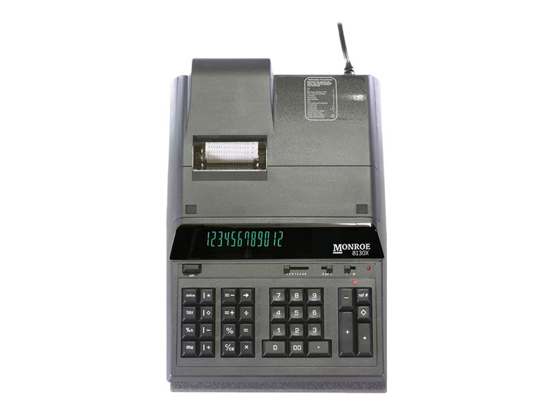 MONROE 8130X BLACK ENTRY LEVEL HEAVY-DUTY CALC
