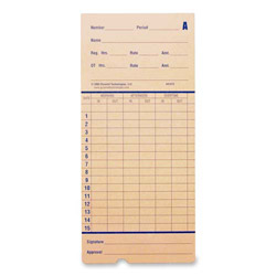 PYRAMID 42415  100PK ATTENDANCE TIME CARDS