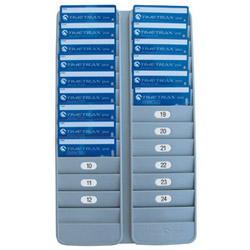 PYRAMID DOUBLE VERTICAL 24 POCKET BADGE RACK