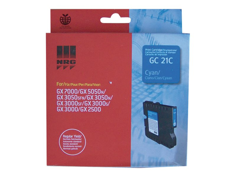 RICOH AFICIO GX3000 GC21 SD YLD CYAN INK, 1k yield