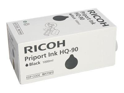 RICOH HQ7000 SD YLD BLACK INK, 1000 ML yield