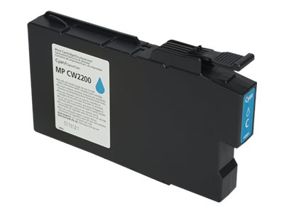 RICOH AFICIO MPCW2200 HI YLD CYAN INK, 100ML yield