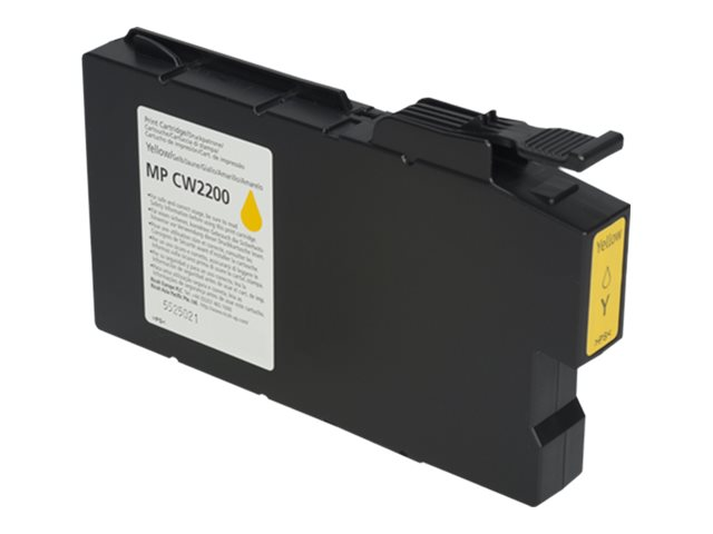 RICOH AFICIO MPCW2200 HI YLD YELLOW INK, 100ML yield