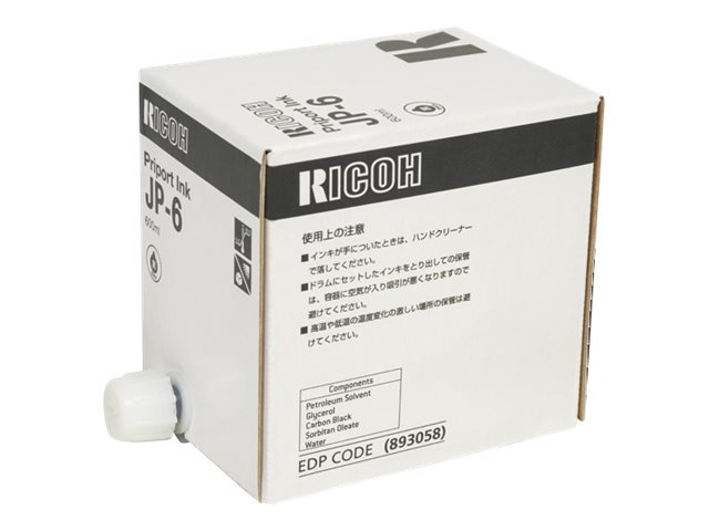 RICOH JP1010  JP-6 5PK SD YLD BLACK INKS, 33k yield