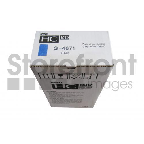 RISOGRAPH HC5000 SD YLD CYAN INK, 32k yield
