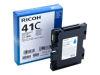 RICOH AFICIO SG3110DN GC41 SD YLD CYAN INK OEM Part: 405762